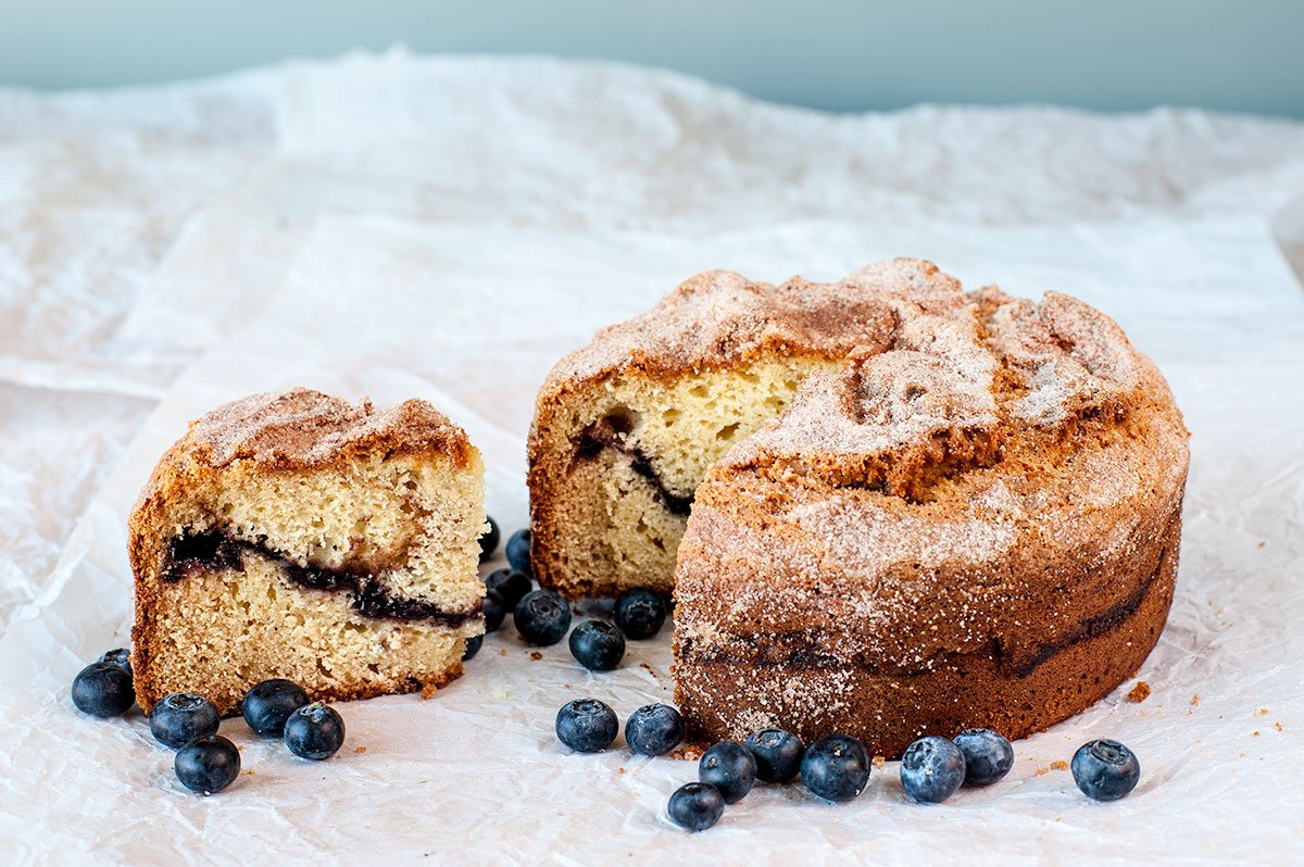 Blueberry Sour Cream Coffee Cake - Bread and Roses Bakery